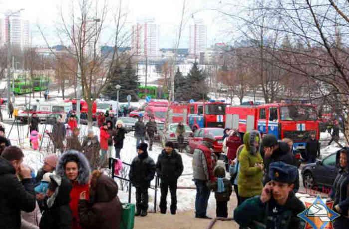 Пожар вобщежитии Минска. Эвакуировано 280 человек