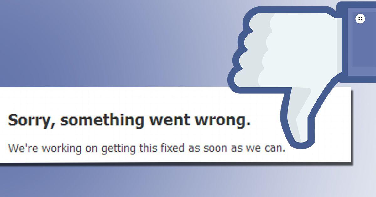 По всему миру произошел сбой в работе Facebook
