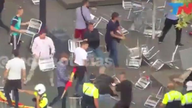 Сторонники и противники Каталонии подрались стульями?