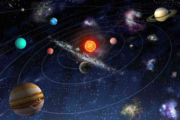 universe solar system stars and galaxies - HD