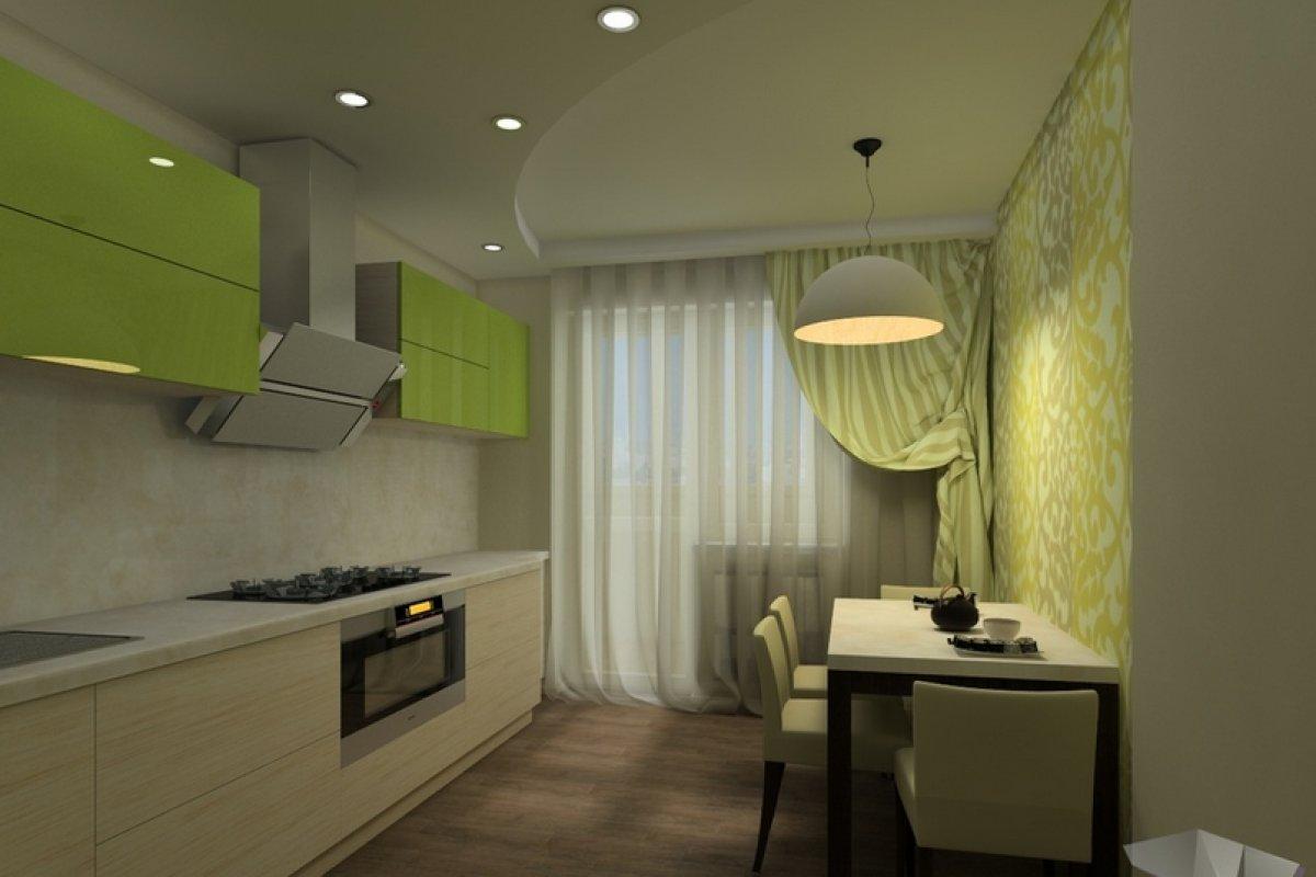 Дизайн кухни в фисташковом цвете