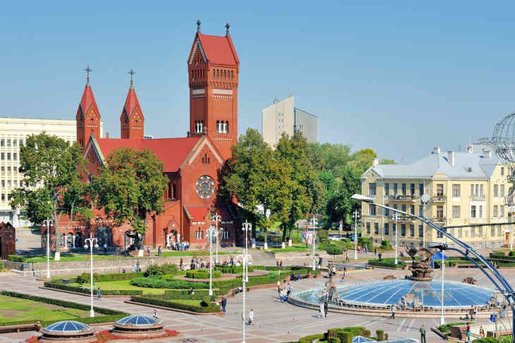 Красный костел в Минске