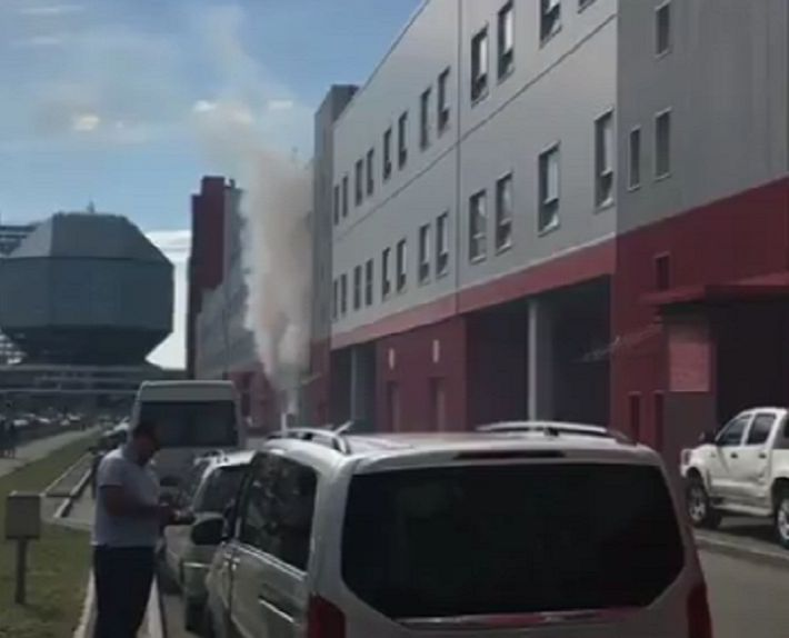 В Минске горел ТЦ Dana Mall