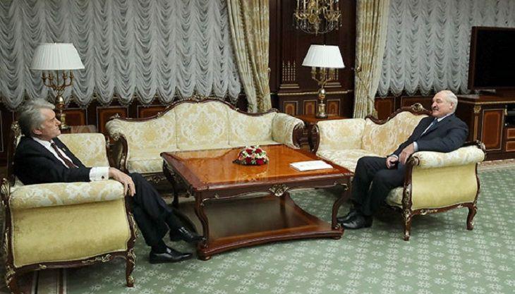 Лукашенко встретился сэкс-президентом Украины Виктором Ющенко