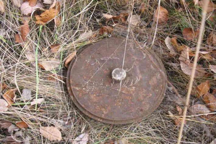 Житель Лунинца во дворе дома откопал мину