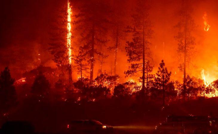 При помощи  ливней потушен самый масштабный пожар вистории Калифорнии