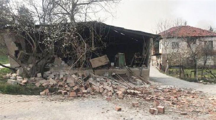 Назападе Турции случилось  землетрясение магнитудой 5,8 балла