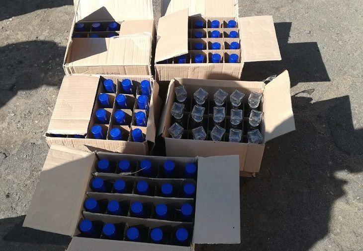 «Бутлегера» из Гродно задержала ГАИ в Дубровенском районе. В его машине нашли 95 бутылок алкоголя