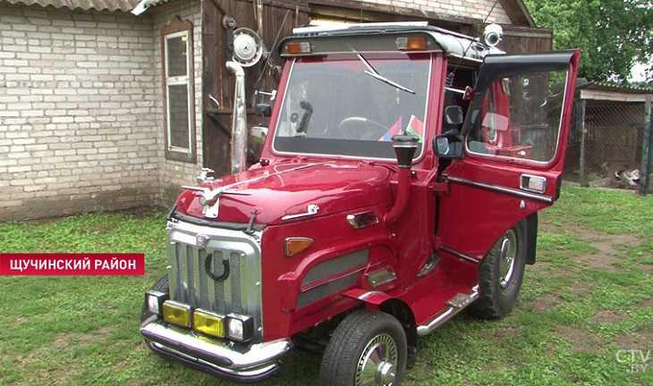 Картинки по запросу Необычный тракторомобиль создал кузнец из Щучинского района