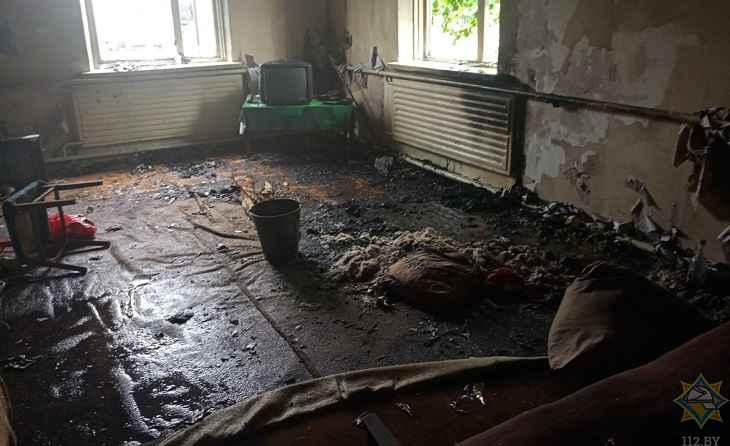 В Мстиславле на пожаре спасли мужчину