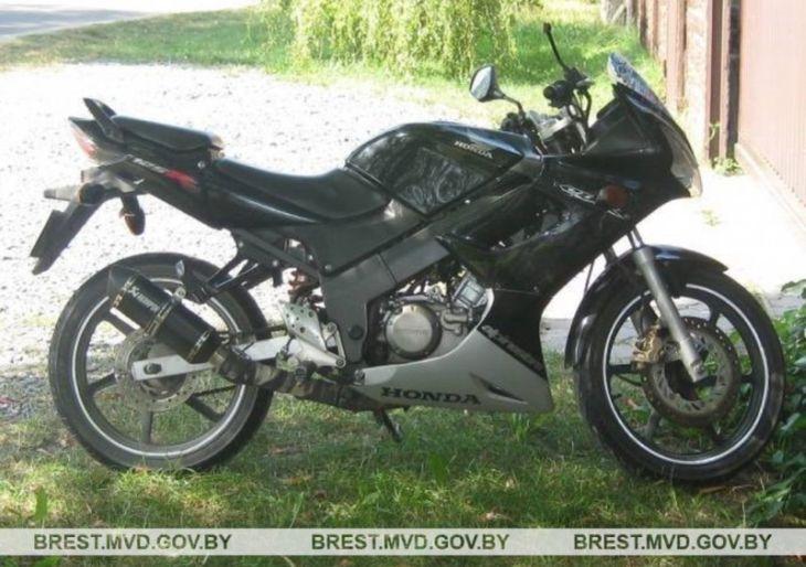 Подросток на мотоцикле попал в аварию в Брестском районе