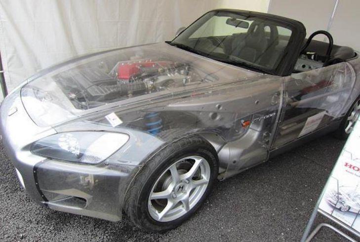 В Японии нашлась полностью прозрачная Honda S2000
