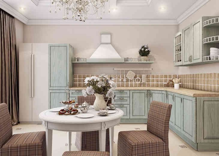 Дизайн кухни в стилях прованс, модерн и классика