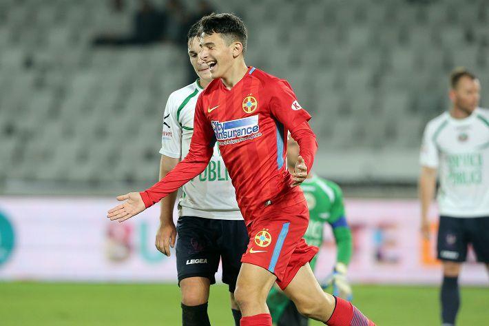 В первом матче за «Стяуа» 14-летний футболист забил гол?