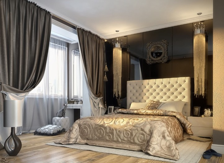 шторы для спальни. фото