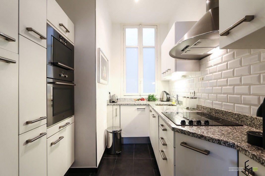 аланом дизайн узких кухонь фото сюжету над