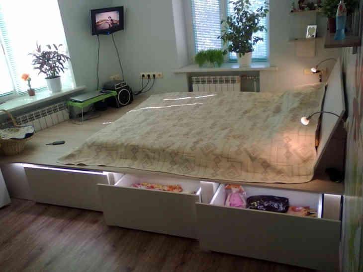 Изготовление подиума для кровати своими руками