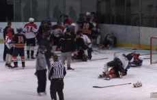 Массовая драка юных хоккеистов «Бреста» и «Кошице»