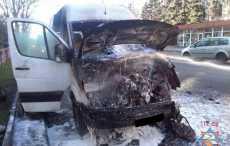 В Минске маршрутка загорелась во время движения