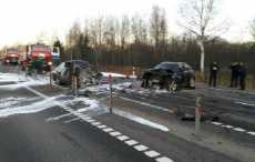 На трассе М1 в Дубровенском районе произошло смертельное лобовое ДТП