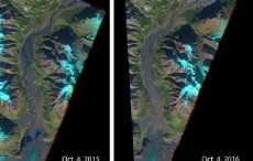 В Канаде из-за отступления ледника исчезла река