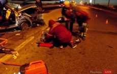 В Молодечно «Ауди» врезалась в отбойник, погиб человек, пятеро пострадали