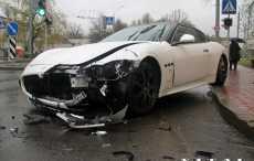 В Гродно разбилась единственная в области Maserati Gran Turismo