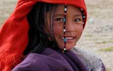 люди в Тибете