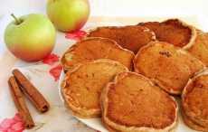 Пышные яблочные оладьи