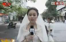 Китайская журналистка сбежала с собственной свадьбы ради репортажа о землетрясении