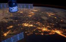 NASA показал ночной вид Западной Европы из космоса